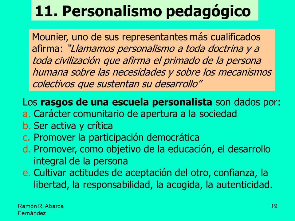 11. Personalismo pedagógico