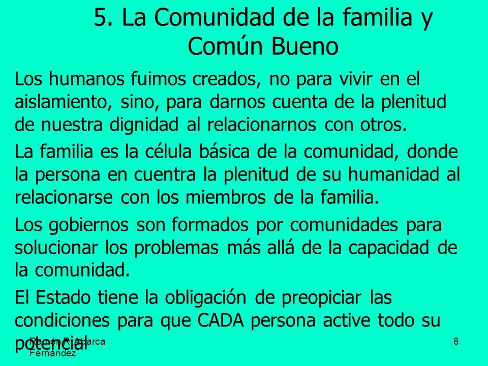 5. La Comunidad de la familia y Común Bueno