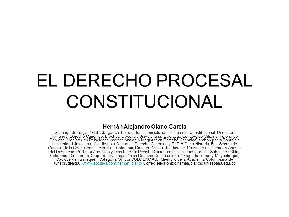 EL DERECHO PROCESAL CONSTITUCIONAL