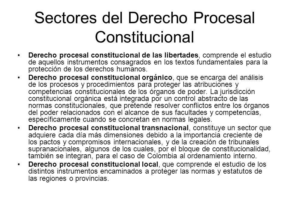 Sectores del Derecho Procesal Constitucional