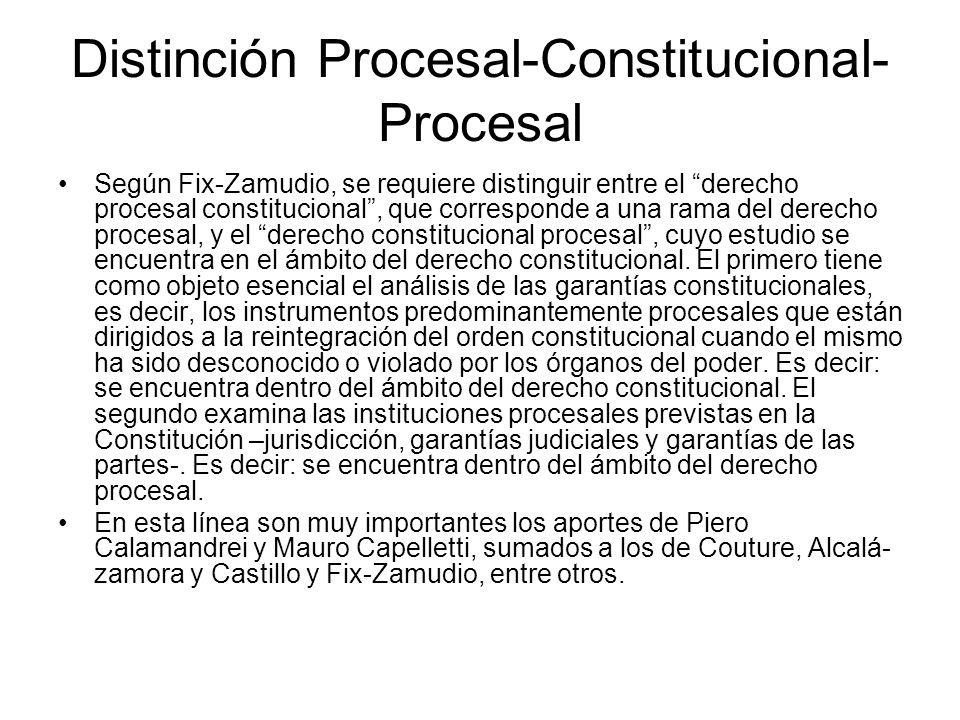 Distinción Procesal-Constitucional-Procesal