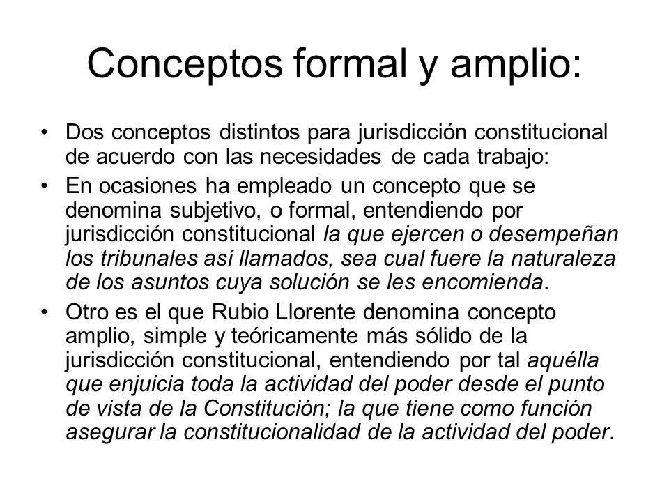 Conceptos formal y amplio: