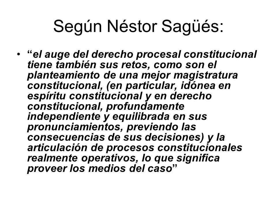 Según Néstor Sagüés:
