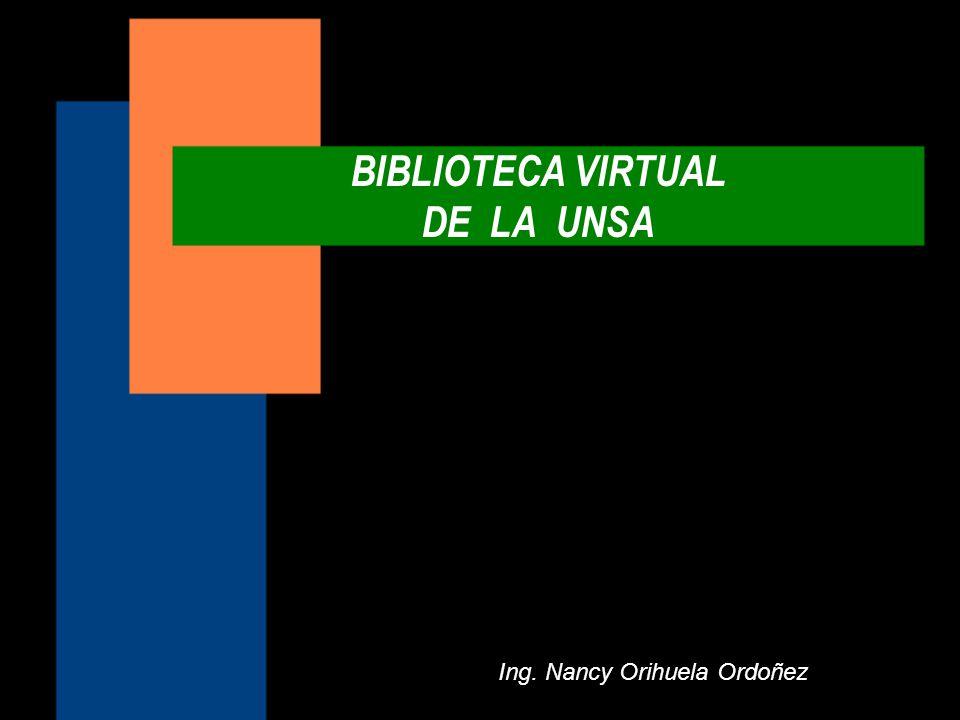 BIBLIOTECA VIRTUAL DE LA UNSA