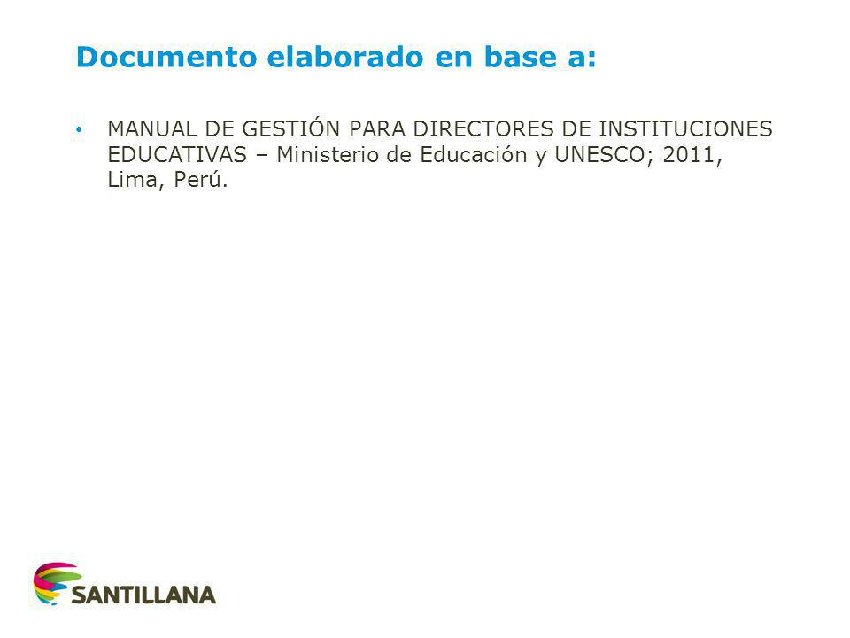 Documento elaborado en base a: