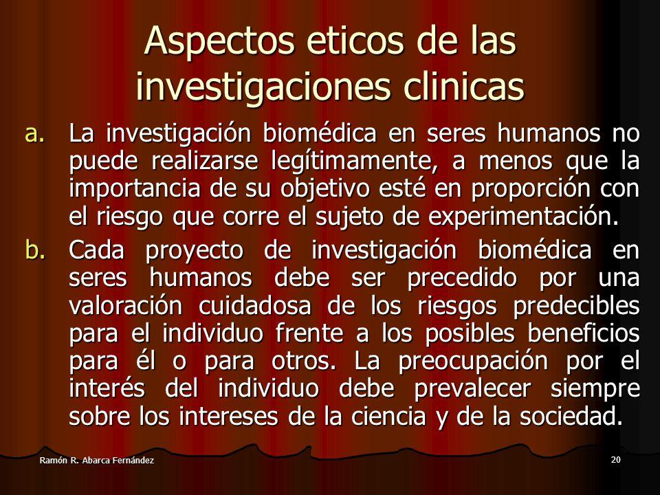Aspectos eticos de las investigaciones clinicas