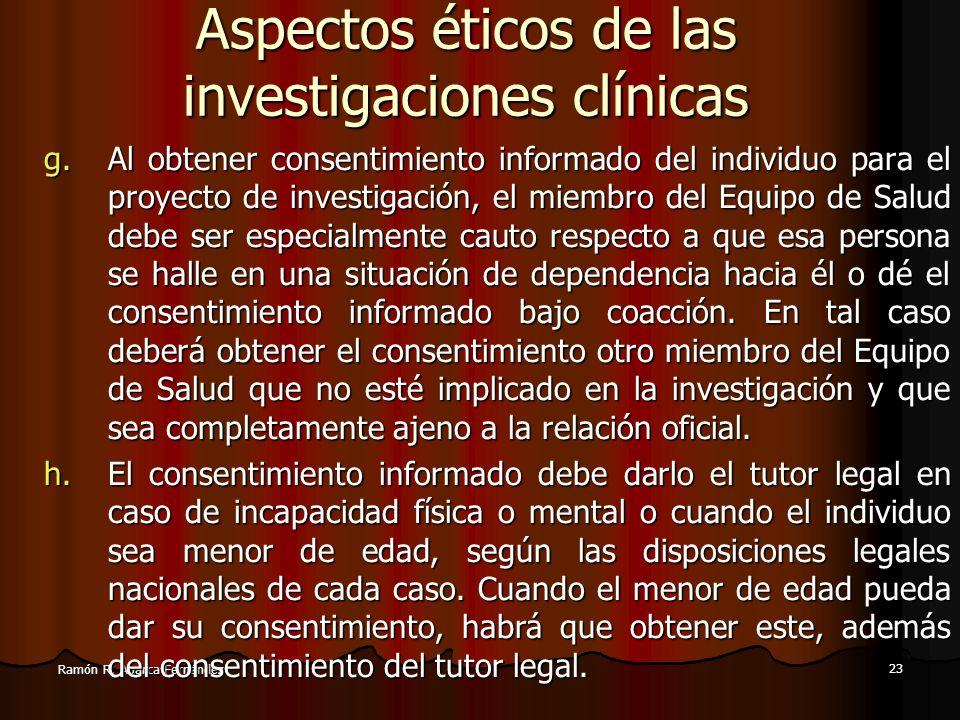 Aspectos éticos de las investigaciones clínicas