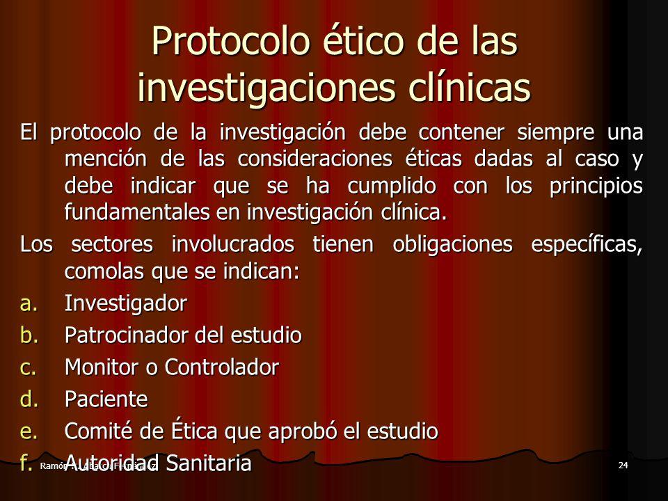 Protocolo ético de las investigaciones clínicas