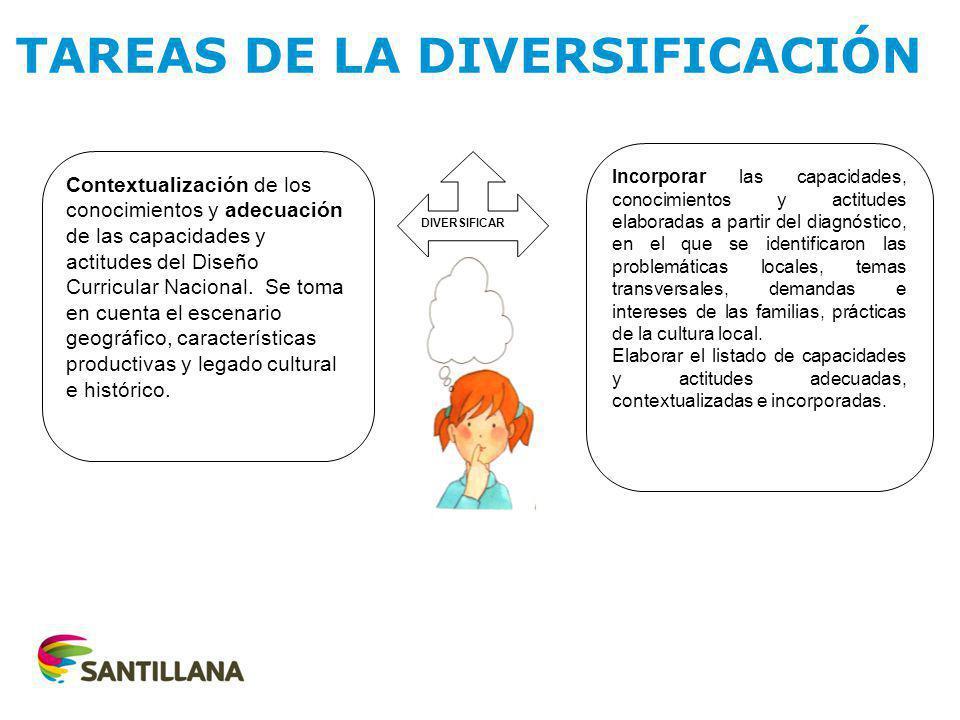 TAREAS DE LA DIVERSIFICACIÓN