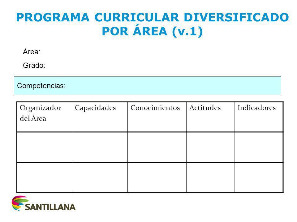 PROGRAMA CURRICULAR DIVERSIFICADO POR ÁREA (v.1)