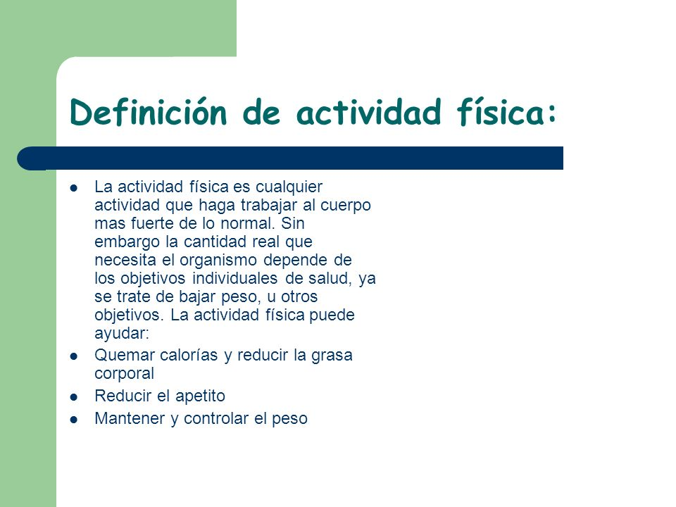 Definición de actividad física: