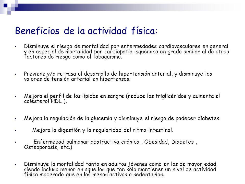 Beneficios de la actividad física: