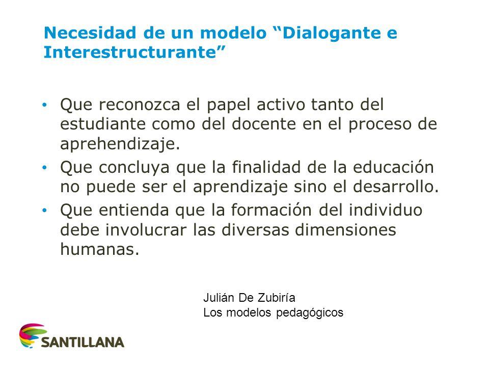 Necesidad de un modelo Dialogante e Interestructurante
