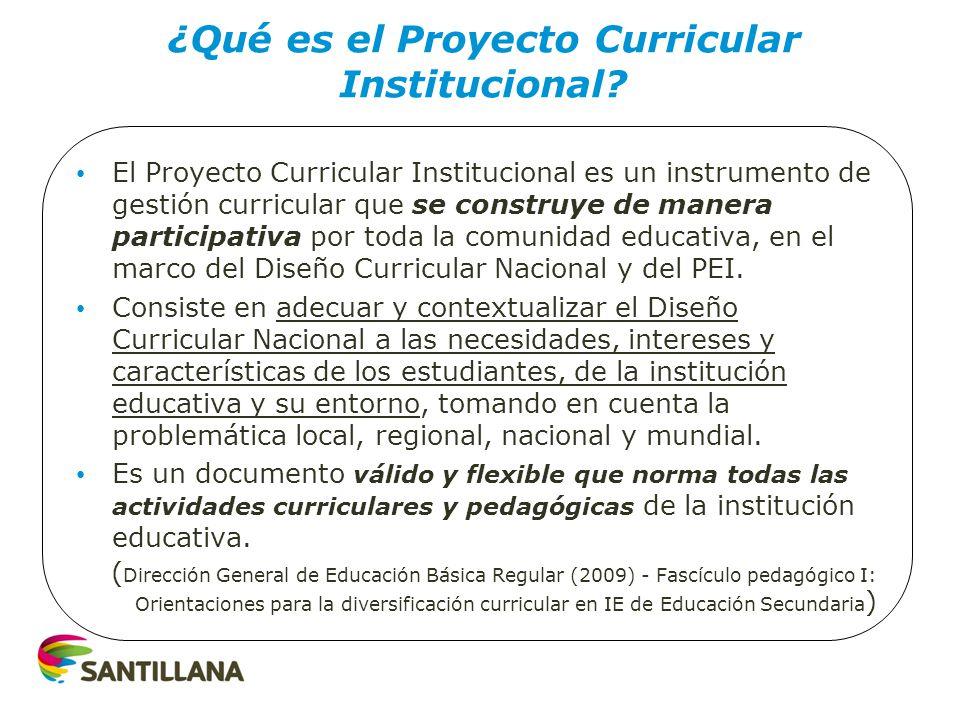 ¿Qué es el Proyecto Curricular Institucional