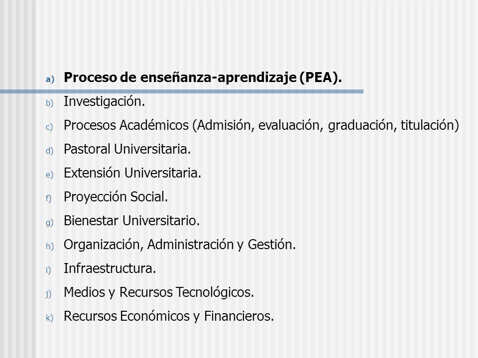 Proceso de enseñanza-aprendizaje (PEA).