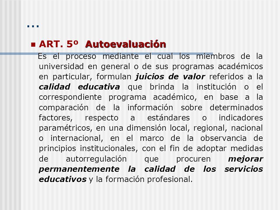 … ART. 5º Autoevaluación.