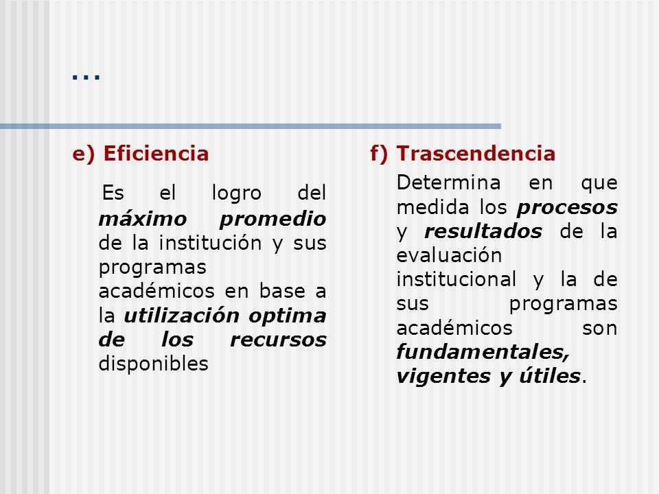 … e) Eficiencia.
