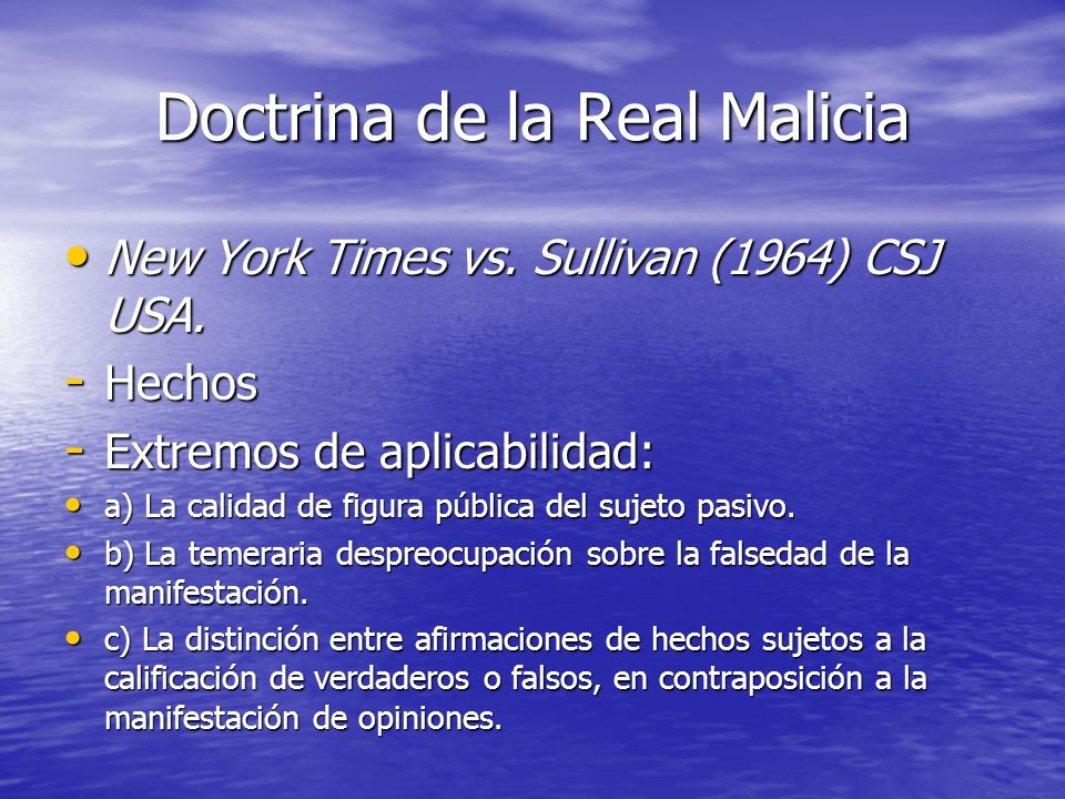 Doctrina de la Real Malicia
