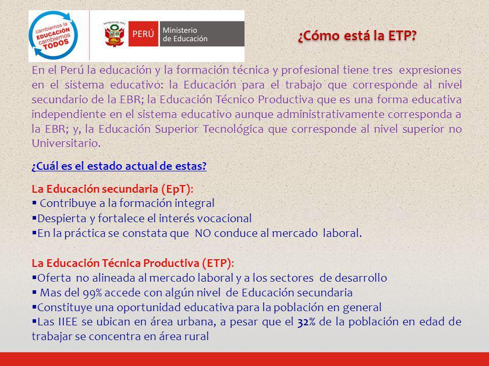 ¿Cómo está la ETP