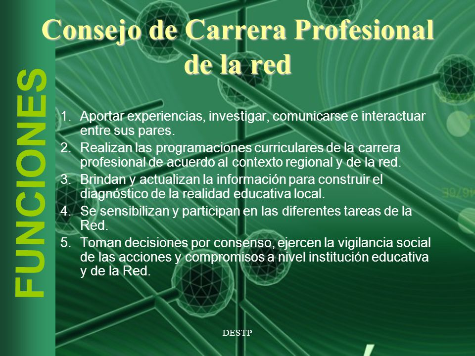 Consejo de Carrera Profesional de la red