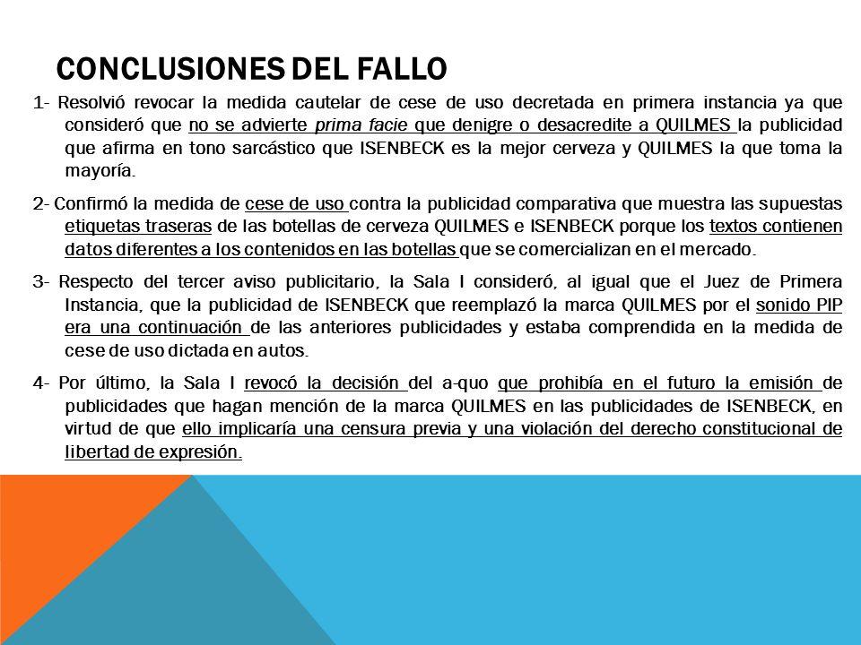CONCLUSIONES DEL FALLO