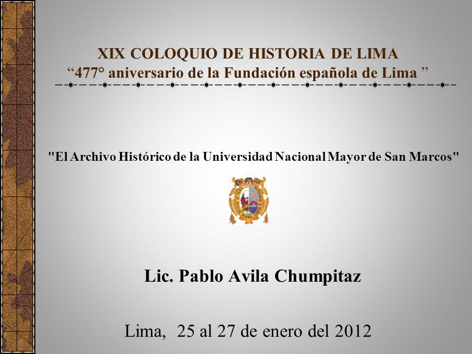 Lic. Pablo Avila Chumpitaz