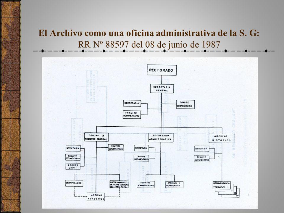 El Archivo como una oficina administrativa de la S