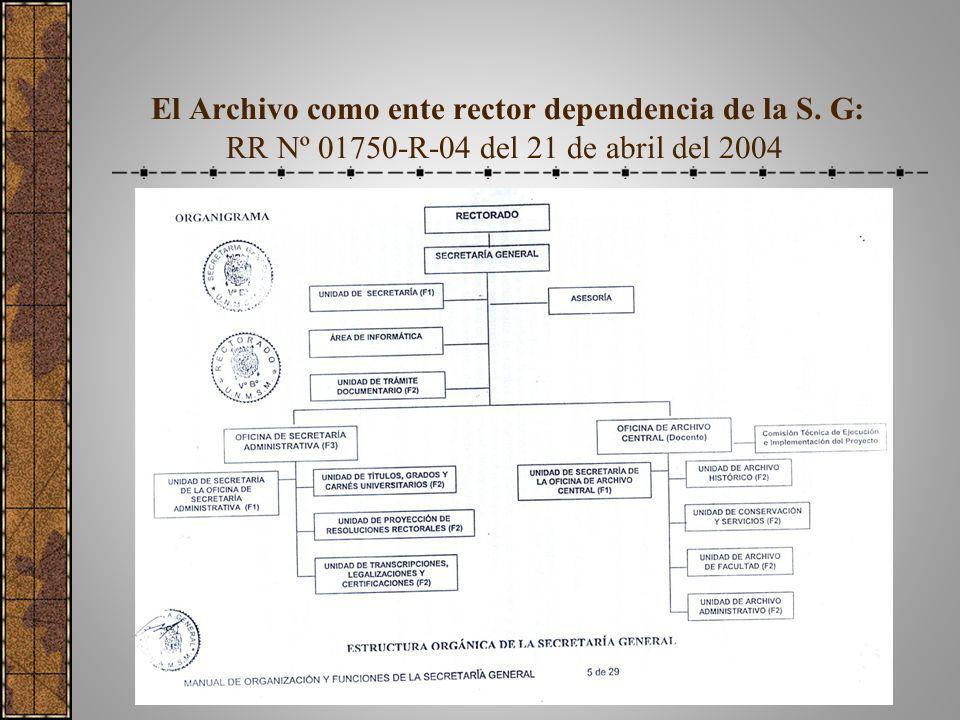 El Archivo como ente rector dependencia de la S