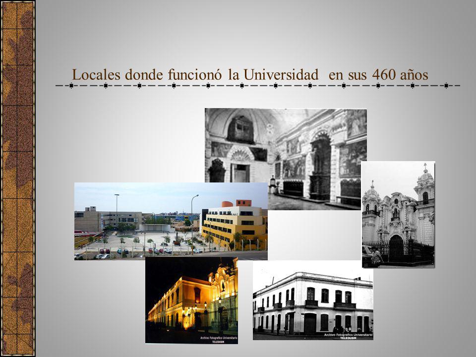 Locales donde funcionó la Universidad en sus 460 años