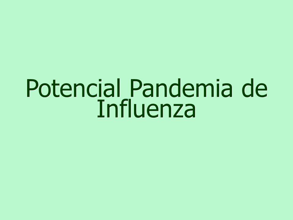 Potencial Pandemia de Influenza