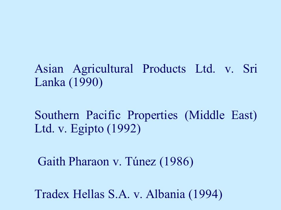 Southern Pacific Properties (Middle East) Ltd. v. Egipto (1992)