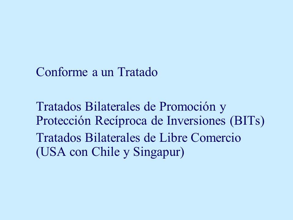 Tratados Bilaterales de Libre Comercio (USA con Chile y Singapur)
