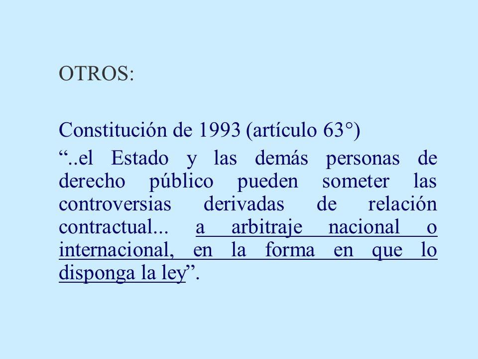 Constitución de 1993 (artículo 63°)