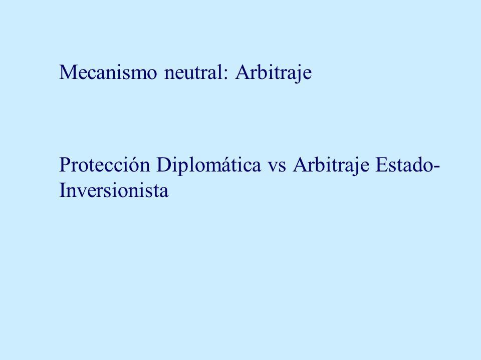 Mecanismo neutral: Arbitraje