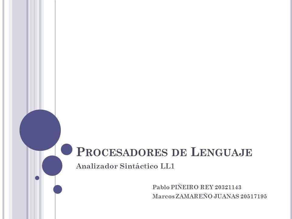 Procesadores de Lenguaje