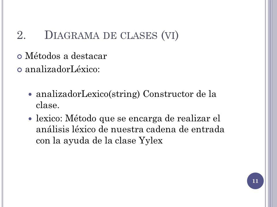 2. Diagrama de clases (vi)