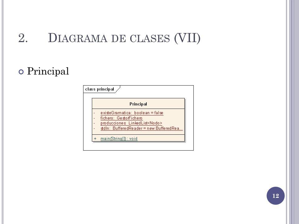 2. Diagrama de clases (VII)