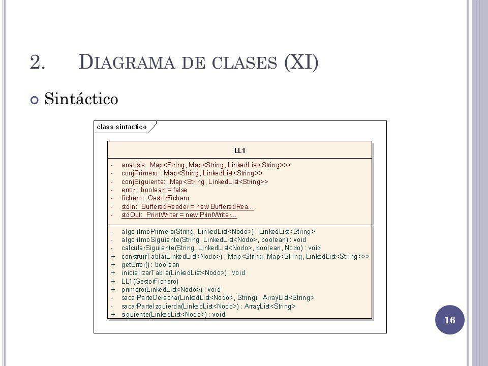 2. Diagrama de clases (XI)