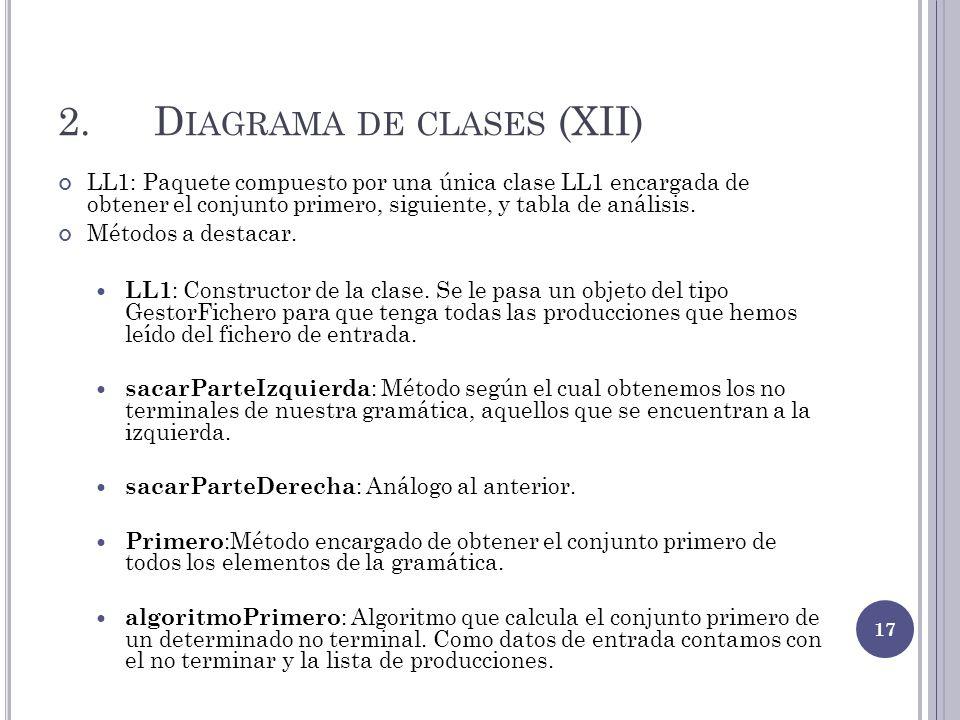 2. Diagrama de clases (XII)