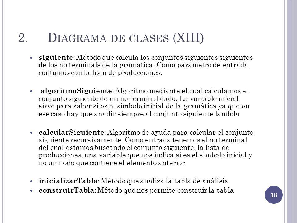 2. Diagrama de clases (XIII)