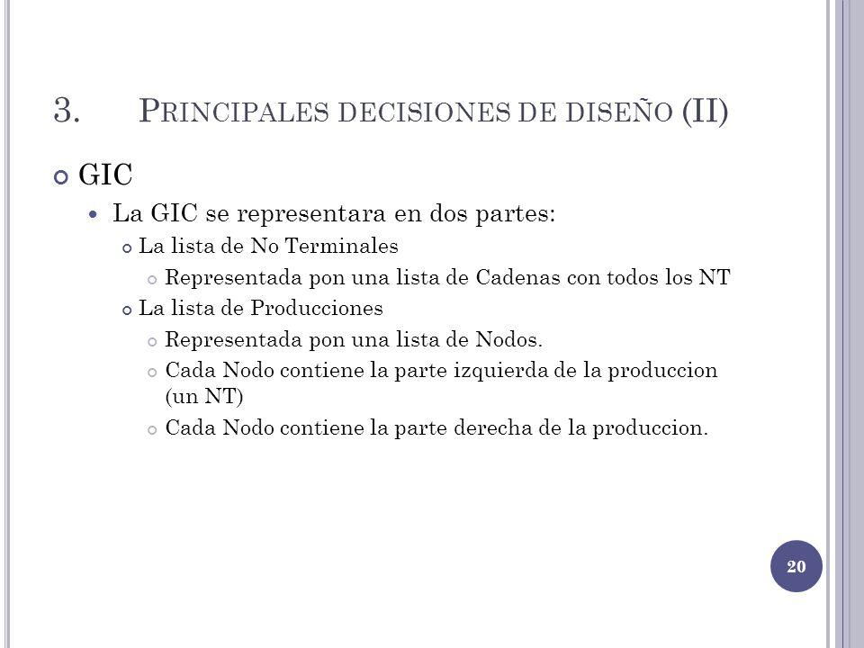 3. Principales decisiones de diseño (II)