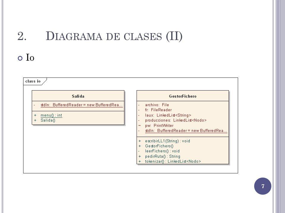 2. Diagrama de clases (II)