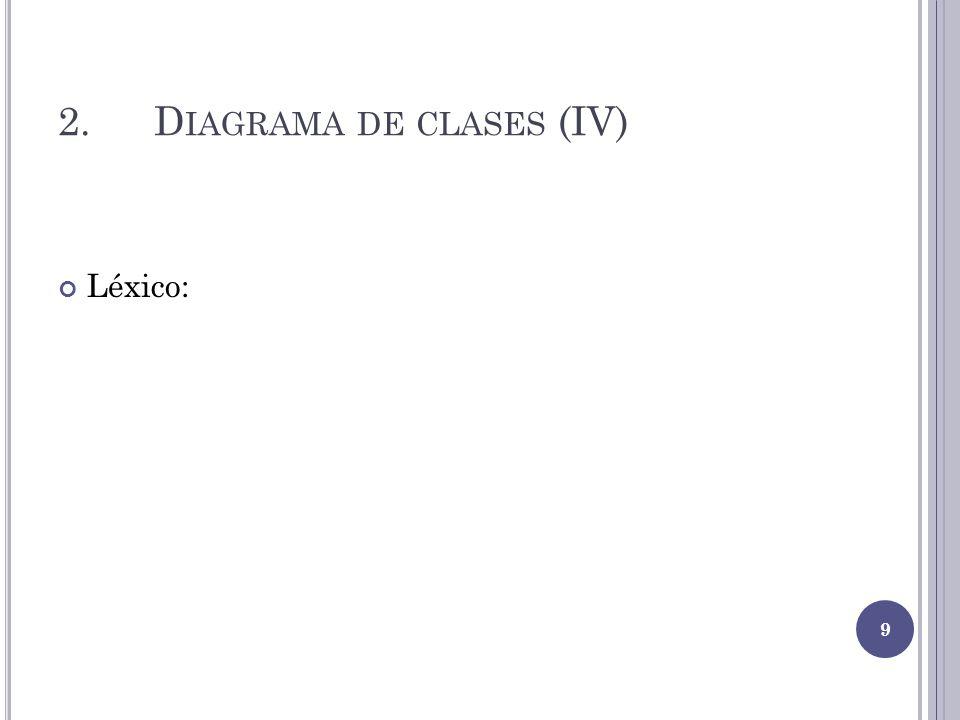 2. Diagrama de clases (IV)