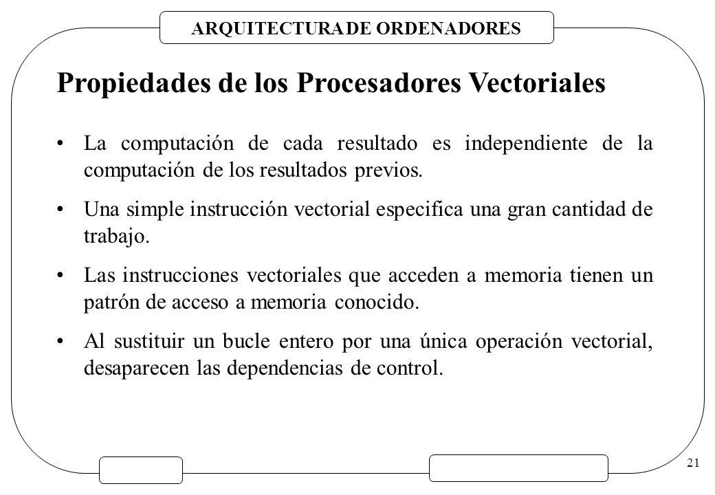 Propiedades de los Procesadores Vectoriales