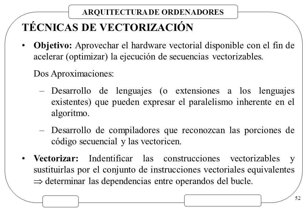 TÉCNICAS DE VECTORIZACIÓN