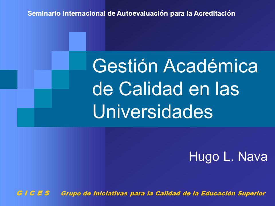 Gestión Académica de Calidad en las Universidades