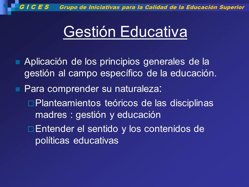 G I C E S Grupo de Iniciativas para la Calidad de la Educación Superior