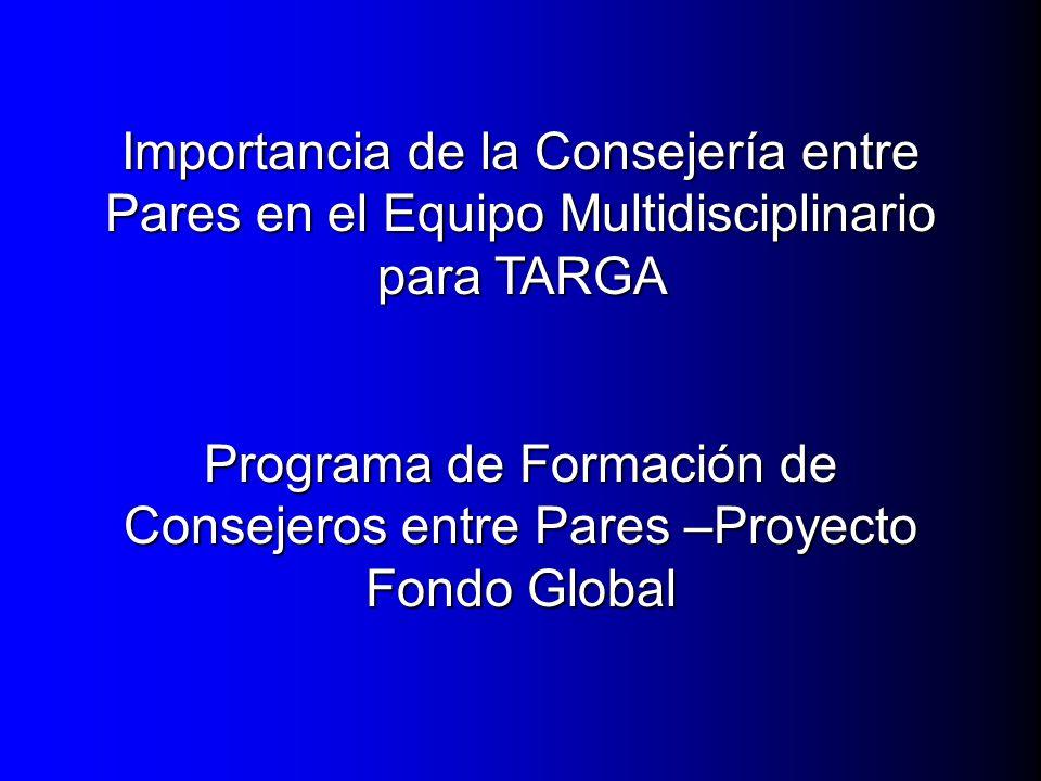 Programa de Formación de Consejeros entre Pares –Proyecto Fondo Global