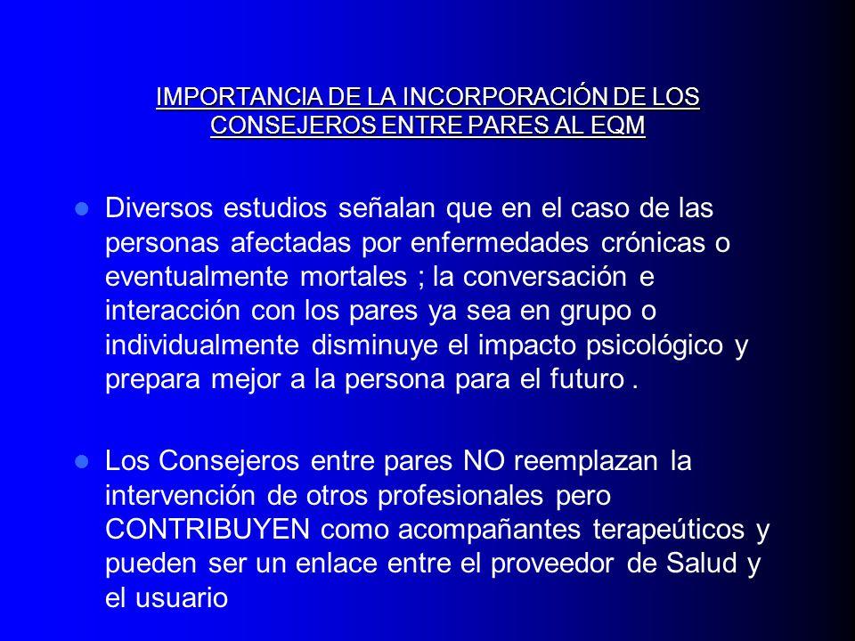 IMPORTANCIA DE LA INCORPORACIÓN DE LOS CONSEJEROS ENTRE PARES AL EQM