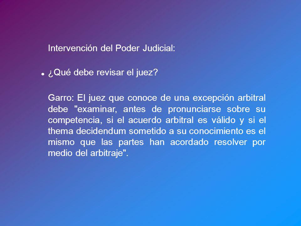 Intervención del Poder Judicial: